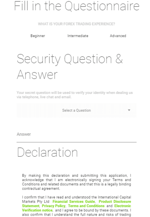 forex broker security questions