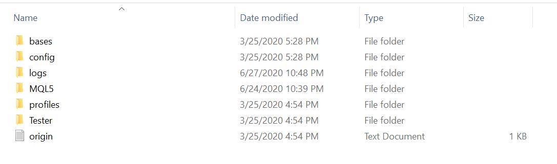 mt5 data folder